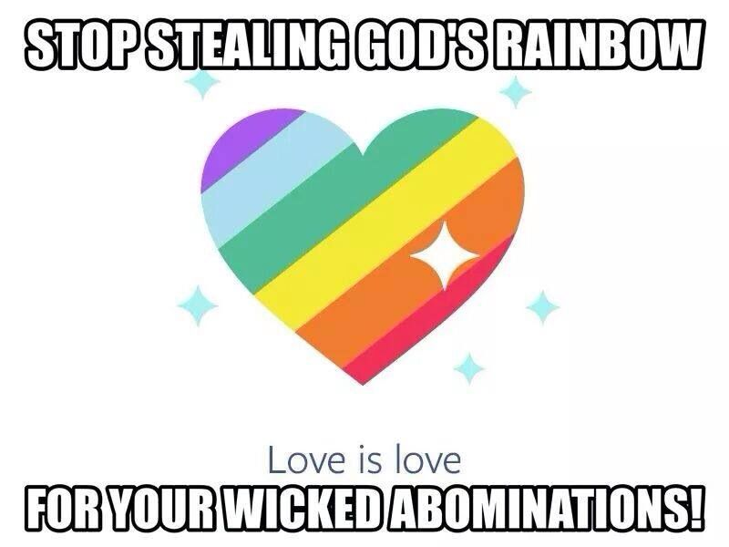 Homosexuality is an abomination to god