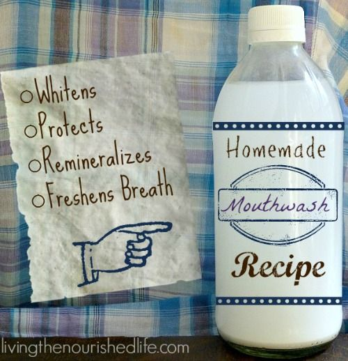 Homemade Mouthwash Recipe - Whitens and Remineralizes Teeth - The Nourished Life