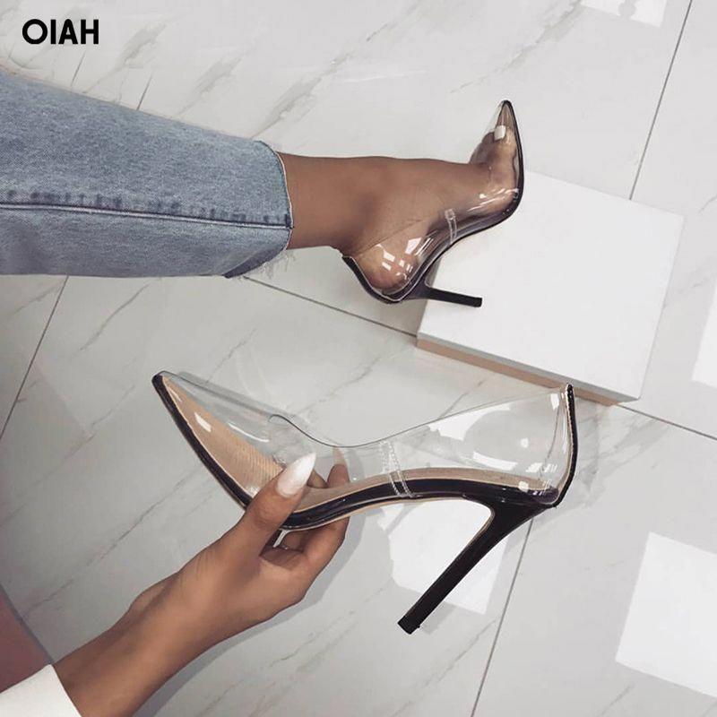 designer perspex heels