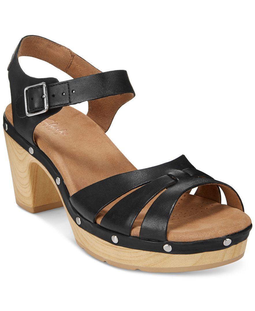 84d44bcd8e33 Clarks Artisan Women s Ledella Trail Platform Sandals