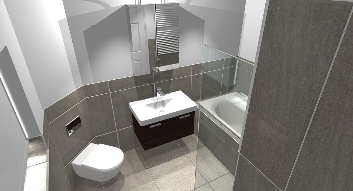 L Shaped Bathroom Design The Floor Plan Gave Us A Great Canvas To Work With Presenting Our