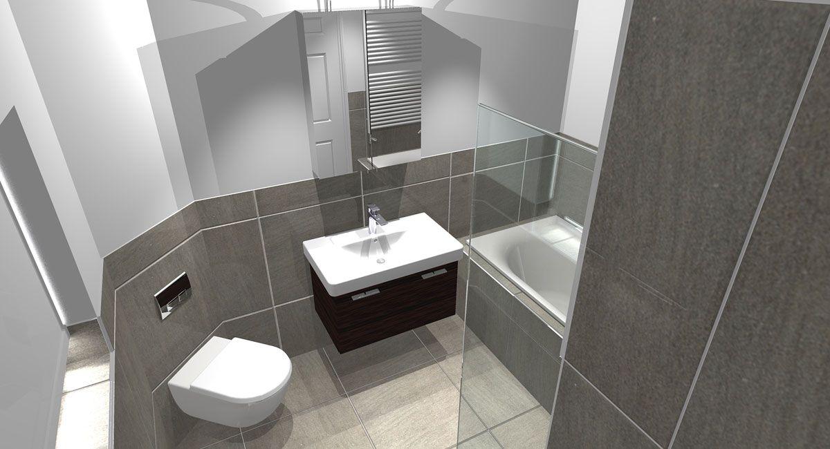 Designer Bathroom Prepossessing L Shaped Bathroom Design  The Floor Plan Gave Us A Great Canvas Design Ideas