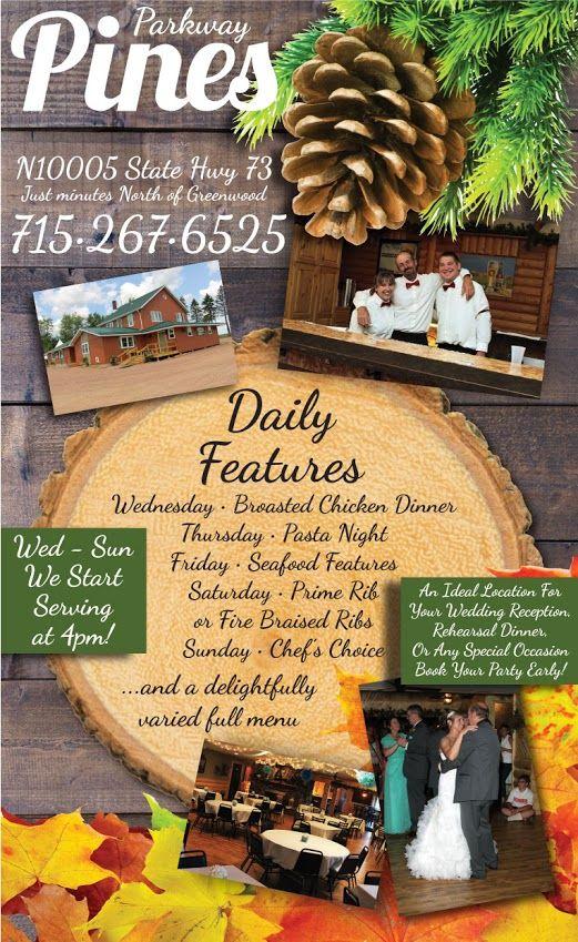 Parkway Pines Restaurant Menu Marshfield Wi 2015 16 Restaurants In