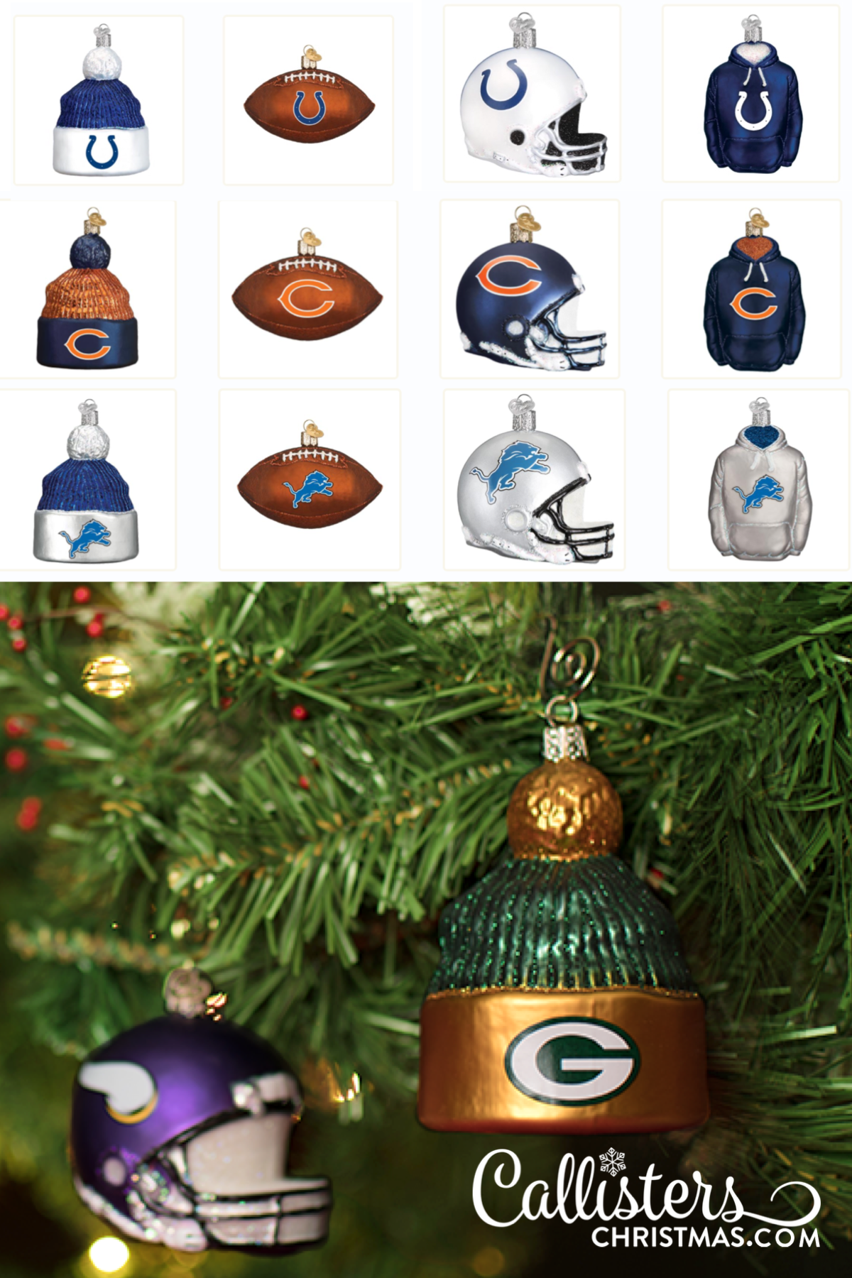Christmas Day Nfl 2020 NFL Ornaments | Football Team Ornaments | Callisters Christmas in