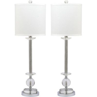 Found it at wayfair marla crystal candlestick table lamp byb safavieh overall height top to bottom 31 inches overall width side to side 10 inches