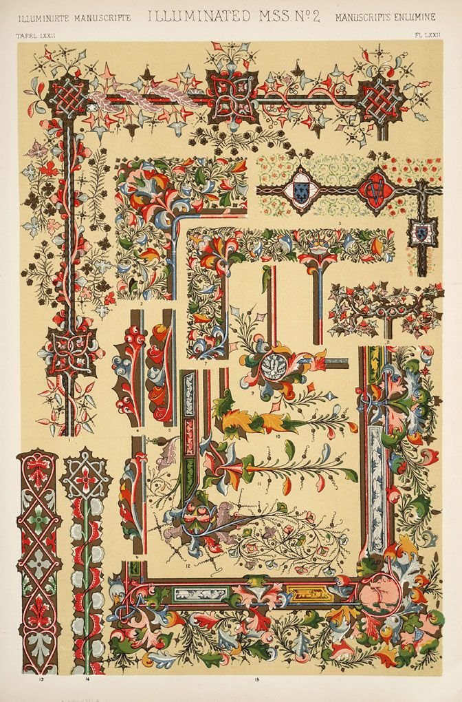 Jones Owen The Grammar Of Ornament 1910 Medieval Ornament Illuminated Manuscripts Enluminure Moyen Age Illustration Art Nouveau Peintures Anciennes