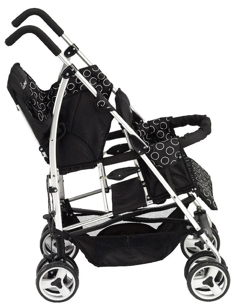 Kinderwagon Hop Tandem Umbrella Stroller Black Best