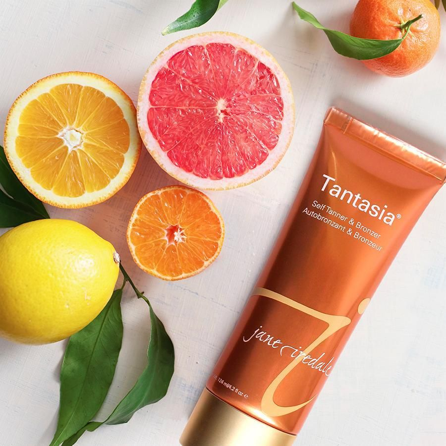 Give your skin a light, fresh glow with our citrus-scented sunless tanner, Tantasia. Its instant bronzing effect helps you create an even, natural-looking #tan.