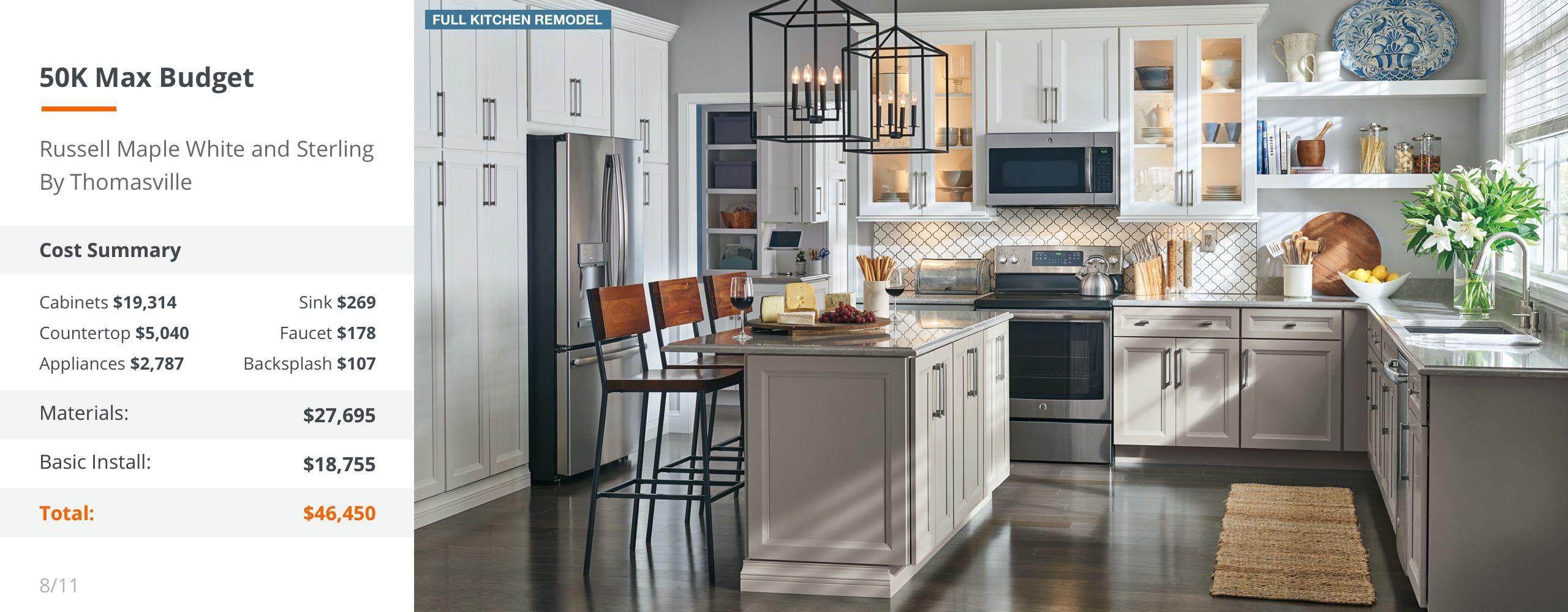 50k Max Budget Gray Desktop Kitchen Inspiration Design Kitchen Design Custom Countertops