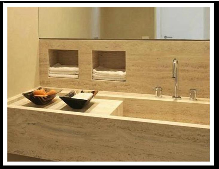 nichos banheiro marmore  Pesquisa Google  DeCoração  Pinterest  Rest room -> Nicho Banheiro Box