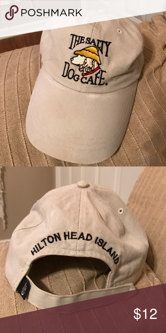 2d9d2fc744b Salty Dog Cafe Hat Tan Salty Dog hat with Hilton Head Island written on the  back. Other