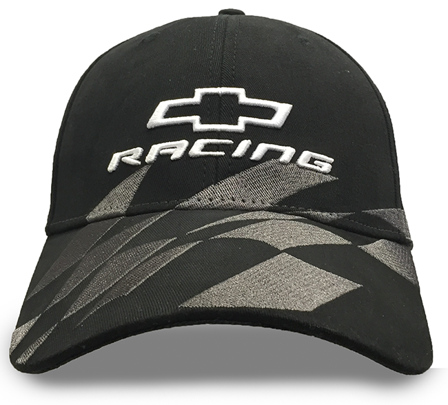 NEW Chevrolet Checker Racing Black Gray Chevy Mens Adjustable Cap Hat