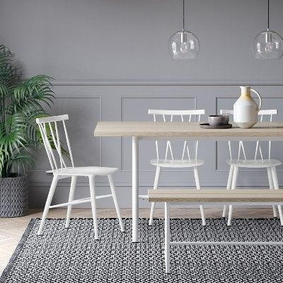 Magnificent Set Of 2 Becket Metal X Back Dining Chair White Project 62 Ibusinesslaw Wood Chair Design Ideas Ibusinesslaworg