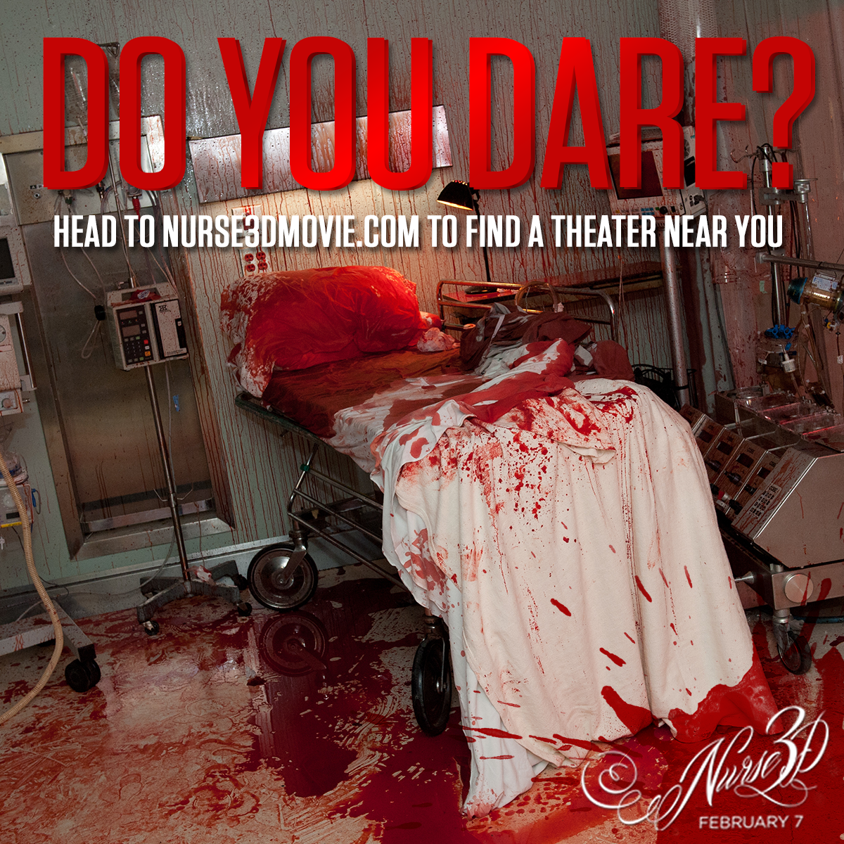 Ready for your check up?  Head to http://www.Nurse3DMovie.com now to find a theater near you!  #Nurse3D