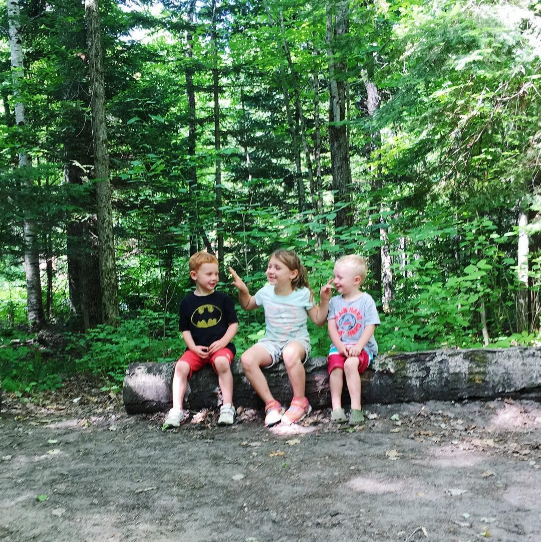 Sorry folks I'm not dead just on summer vacation mode. Wrapping up our camping trip in #bonechoprovincialpark  The best part is observing the wildlife in their natural habitat  (aka the 3 wild children pictured above)