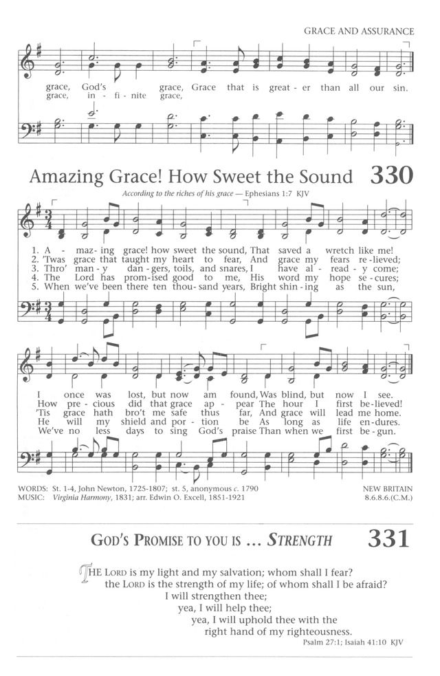 Baptist Hymnal 1991 330  Amazing grace! how sweet the sound
