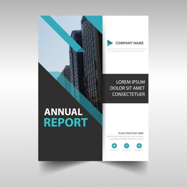Blue Creative Annual Report Cover Free Vector  Booklet Layout