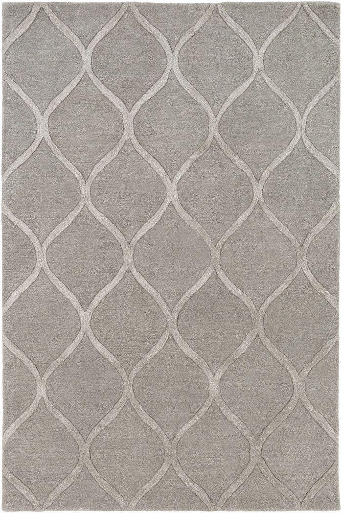 Braided Handmade Hand Braided Gray Off White Indoor