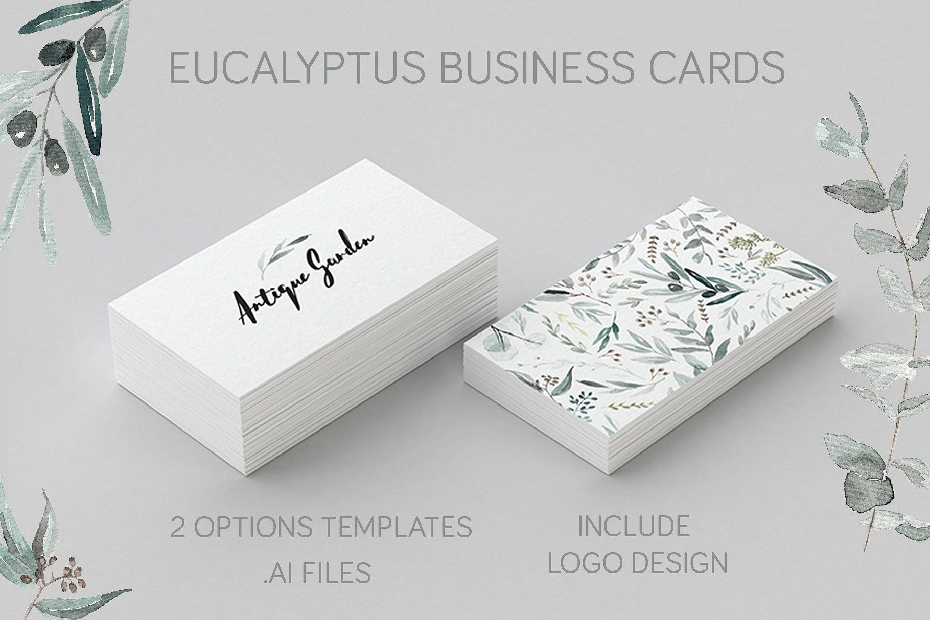 Business Cards 2 Editable Templates To Create Your Own Business