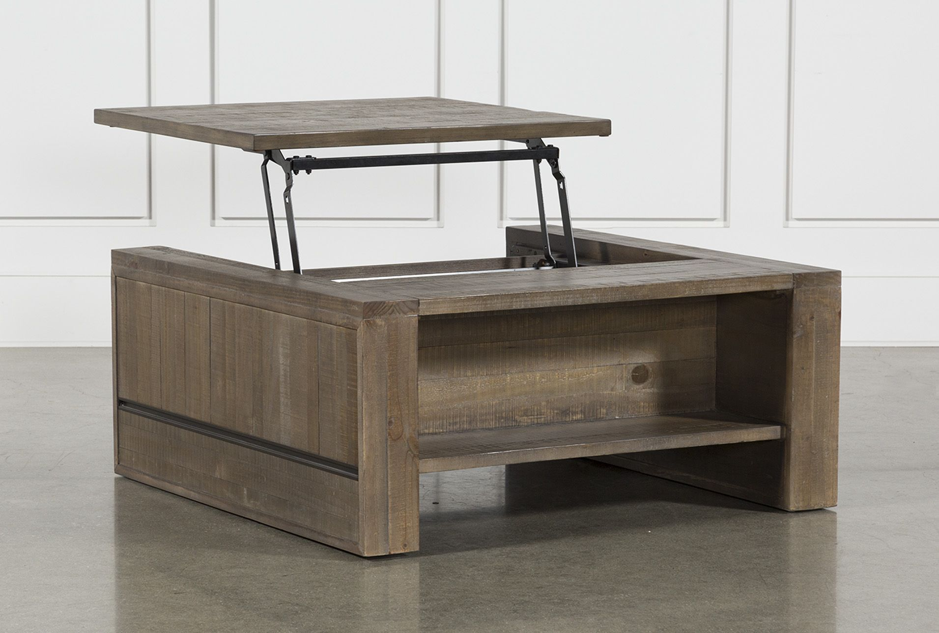 Lassen Square Lift Top Cocktail Table Coffee Table Living Spaces