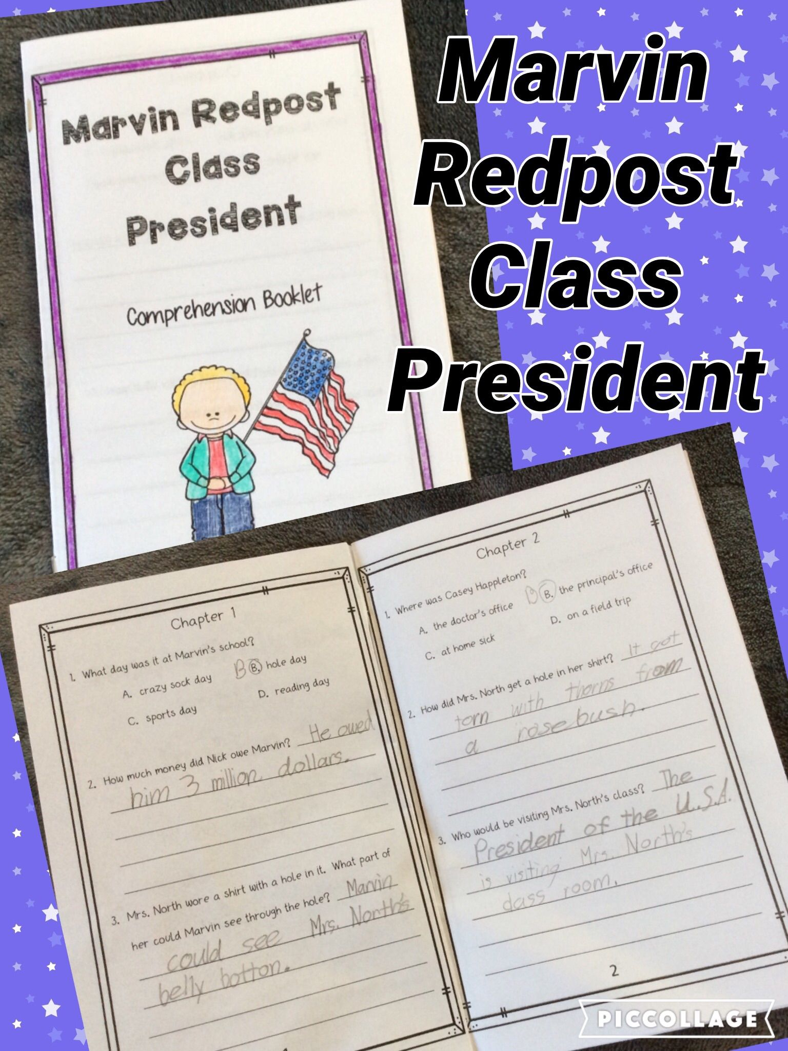 Great activities for Marvin Redpost Class President!