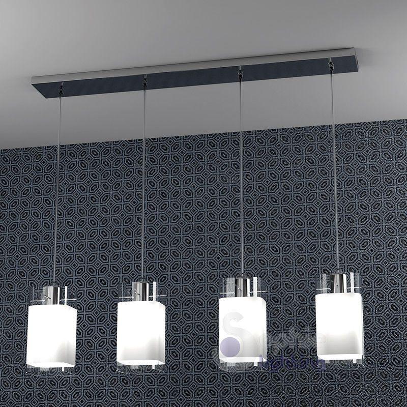 Lampadario lampada sospensione design moderno acciaio - Cucina lampadari ...