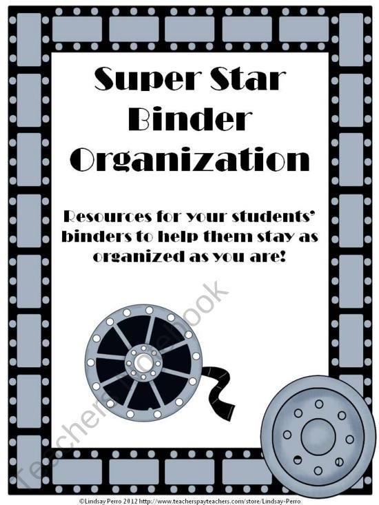 Super Star Student Binder Organization product from Beyond-the ...
