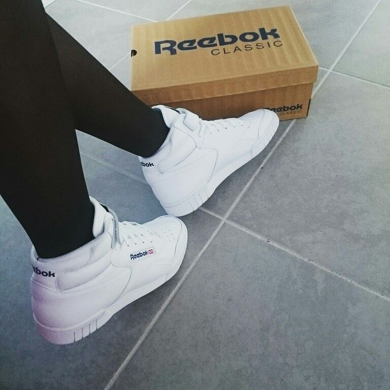 Exofit #Reebok #Classic #White #Sneakers #outfit