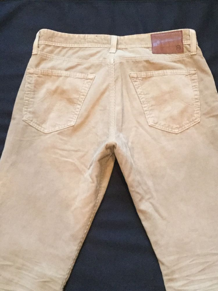 Men's AG Tan Corduroy Pants Jeans 32 X 32 The Graduate Tailored Leg Cotton  | eBay
