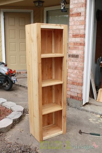 Rustic Bookcase From Fence Slats Rustic Bookcase Bookcase Diy