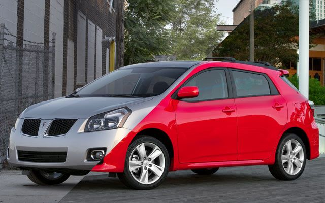 10 Pairs Of Cars Separated At Birth Pontiac Vibe Toyota Matrix