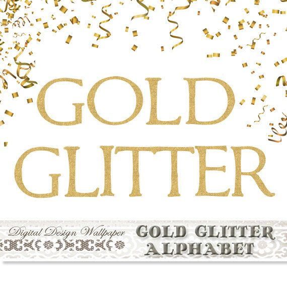 Gold Glitter Alphabetgold Glitter By Digitaldesignpaper On Etsy