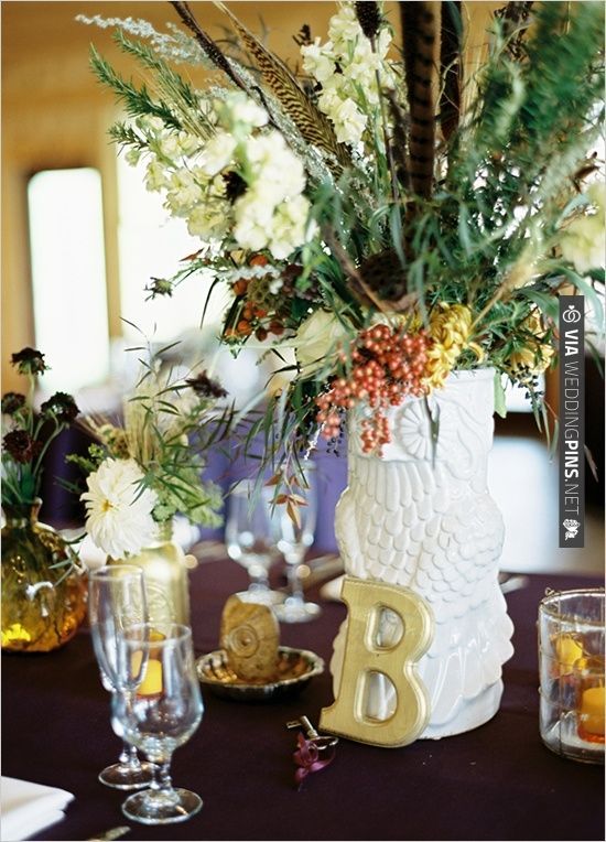 owl wedding decorations owl vase for wedding decor via weddingpins net 6355