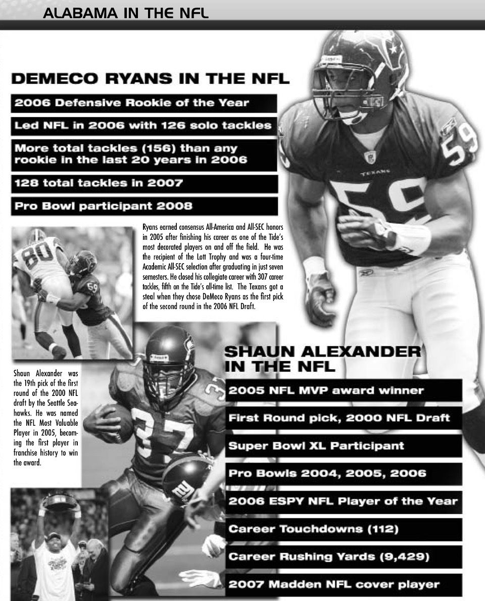 Demeco Ryans Shaun Alexander In The Nfl Alabama Rolltide Bama Builtbybama Rtr Crimsontide Rammerjammer Alabama Crimson Tide Roll Tide Alabama