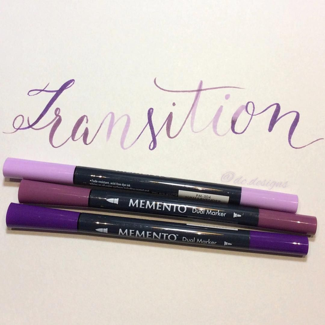 Transition to different shades of purple #BetterLetteringCourse #handlettering #handletteringpractice #handletteringeveryday