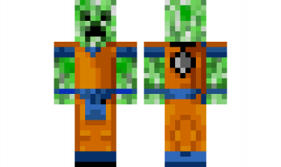 Minecraft Skin CreeperDragonBallZ Minecraft Skins Pinterest - Skin para minecraft pe de dragon ball z
