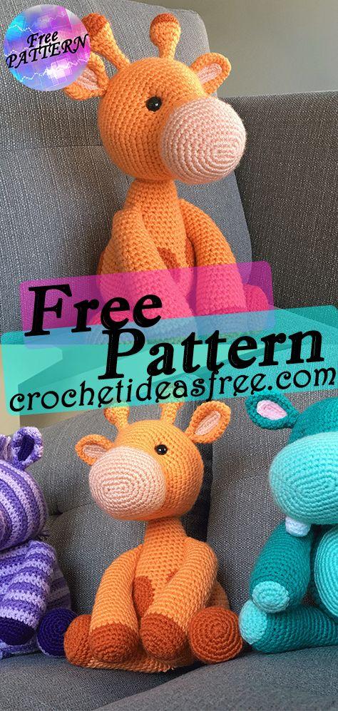 Amigurumi Crochet Giraffe Pattern by Little Bear Crochets | 997x474