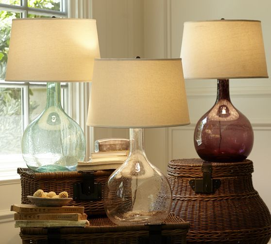 Eva Colored Gl Table Lamp Pottery Barn I Like The Clear One Maybe For Guest Bedroom