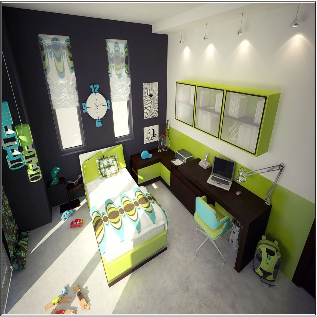 17 Ideas For Calming Green Bedroom Designs Dazzling Black And White Lime Kids Decoration With Dark Wood Finish Laptop Desk A