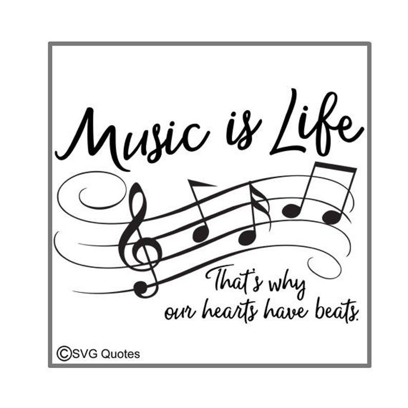 SVG Cutting File Music is Life DXF EPS For Cricut Explore   Etsy