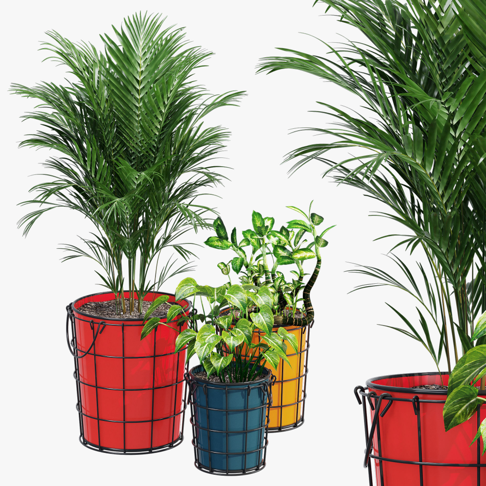 Farmstead Planters 3d Model In 2020 Planters Plants Farmstead