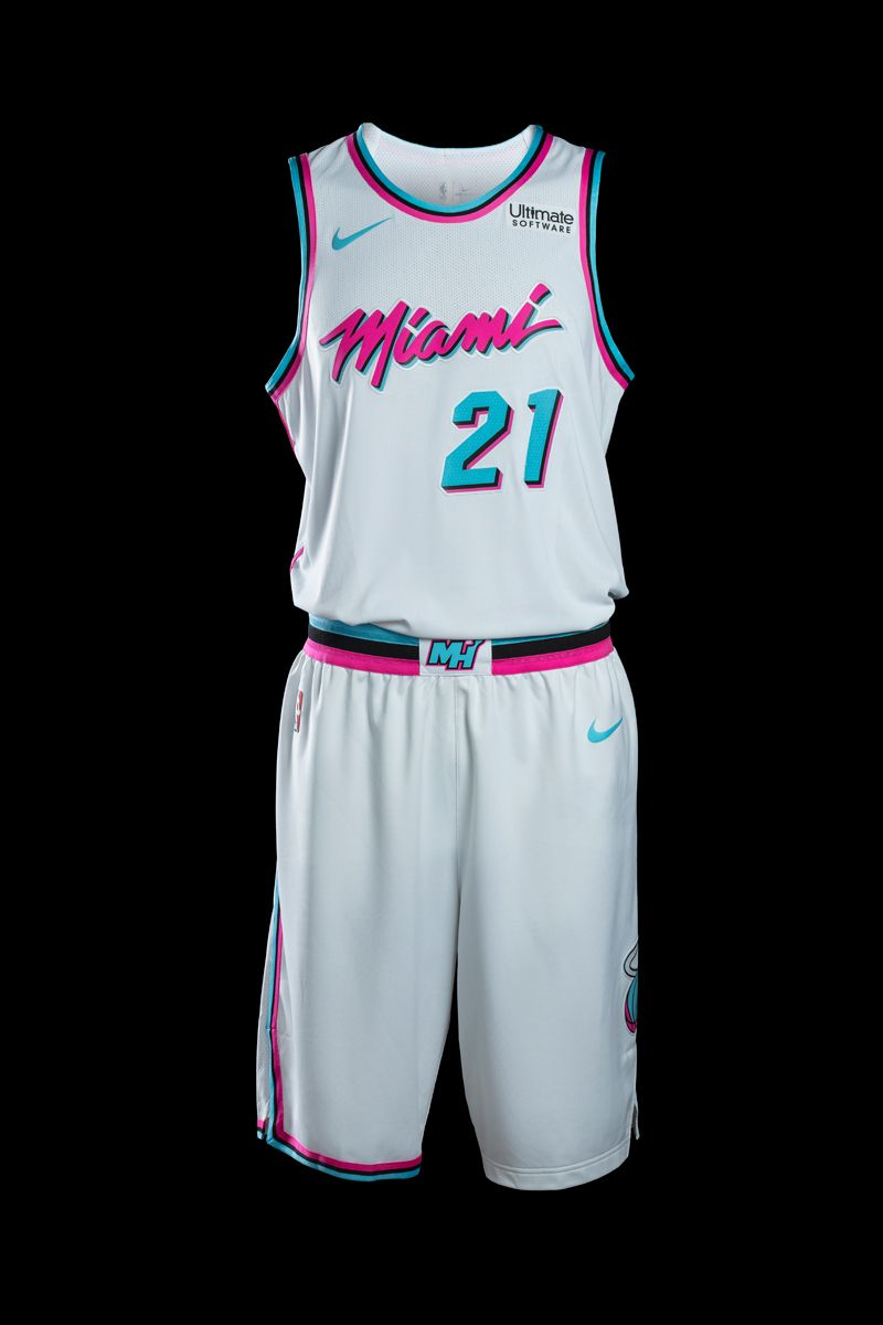 0af2c1cc7f9d NBAs Miami Heat Embrace All Things Vice in Logo Uniform