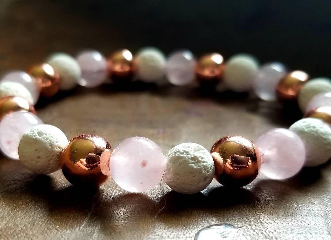 🌸 Now Available 🌸 Rose Quartz, White Lava Stone and Rose Gold Hematite. . . . #bracelet #braceletoftheday #braceletsofinsta #handmadewithlove #beadedbracelet #braceletsforwomen #bracelets #instabracelets #handmadebracelets #stackingbracelet #stretchbracelets #madebyme #stacking #madewithlove #madeincanada #handmadeincanada #gemstonejewelry #rosequartz #rosequartzbracelet #rosegoldbracelet #hematite #lavastonebracelet #armcandy #armswag #braceletbling #etsy #etsyseller #etsyshop #standwithsmall
