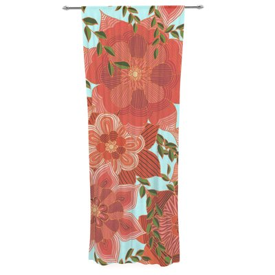 East Urban Home Art Love Passion Flower Power Decorative Nature/Floral Sheer Rod Pocket Curtain Panels
