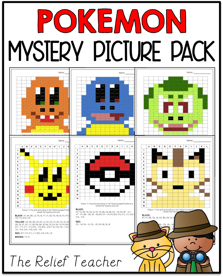 Mystery Picture Pack Pokemon Edition Multiplication