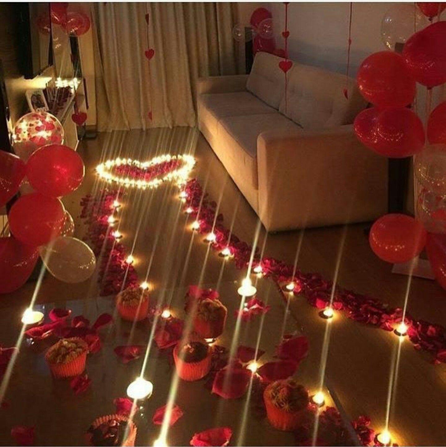 Pin de Sarah en Deko  Romantische ideen Freund jahrestag geschenke y Valentinstag