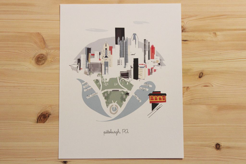 "Kim Sly Pittsburgh, PA 11""x14"" Print"