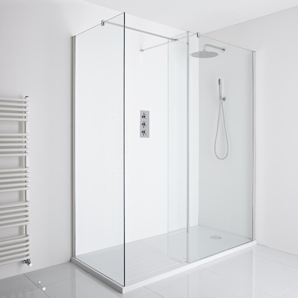 Milano Portland Corner Walk In Shower Enclosure 1400 X 900mm