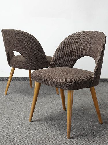 PAIR OF RETRO 50s 60s DINING CHAIRS COCKTAIL CHAIR VINTAGE MID