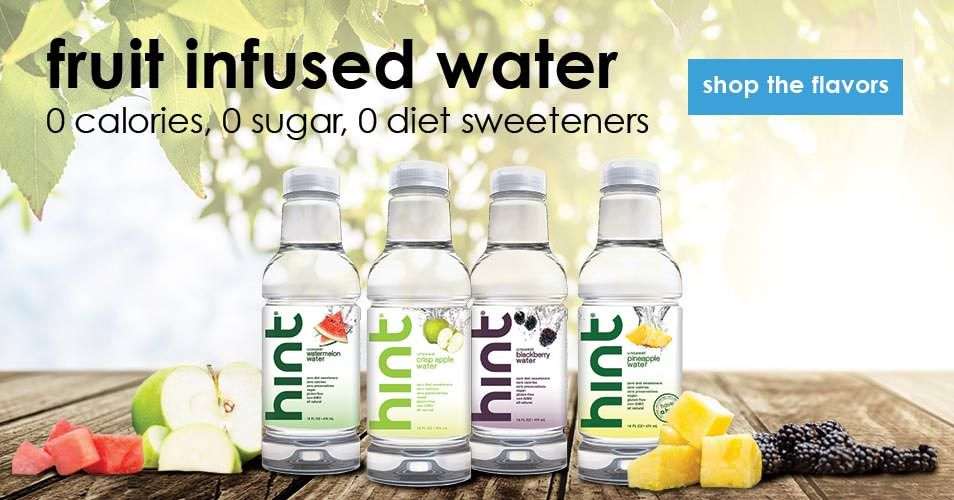 Hint Is Delicious Fruit Infused Water Zero Calories No Sweeteners No Artificial Flavors Made With Real Fr Fruit Infused Hint Water Flavored Water